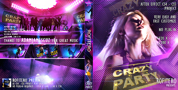 VideoHive Crazy Party 1851409