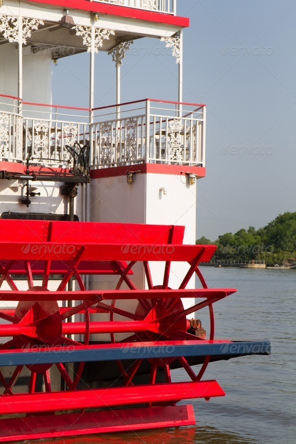 River Steamboat Paddle Wheeler - Stock Photo - Images