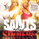 Saints & Sinners Flyer Template - GraphicRiver Item for Sale