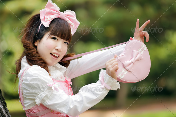 japanese fashion girl - Stock Photo - Images