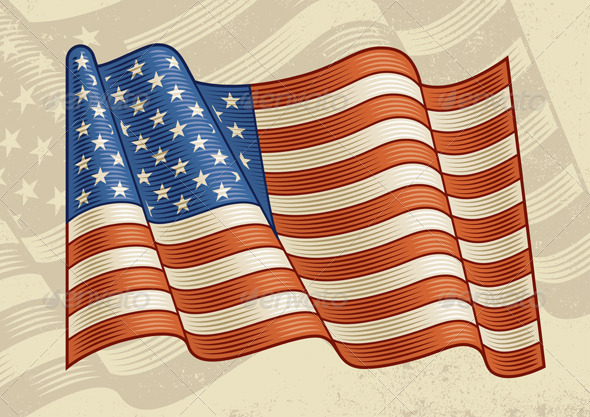 GraphicRiver Vintage American Flag 1854615
