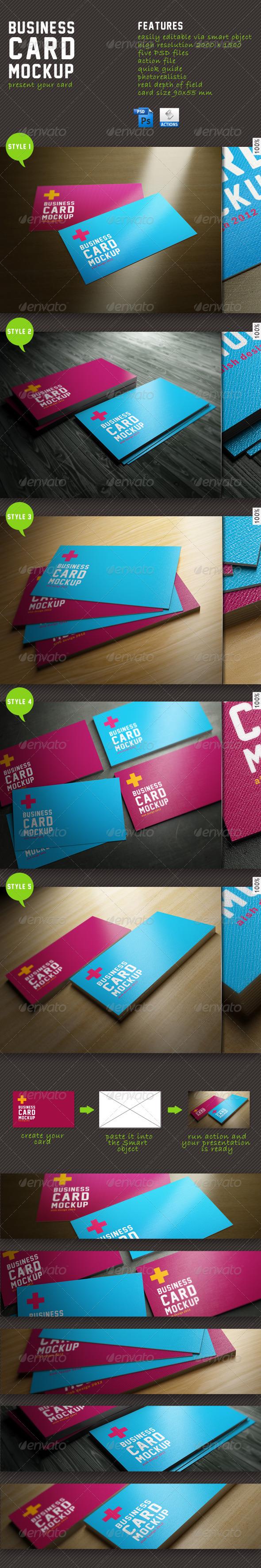 GraphicRiver Business Card Mockup 1854829