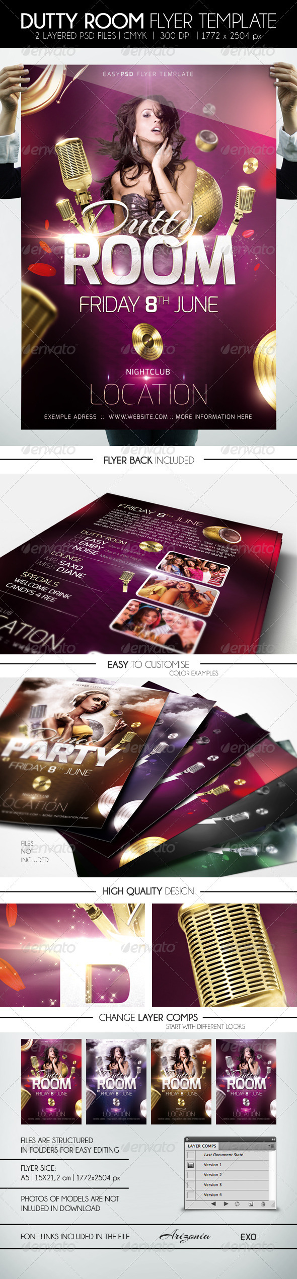 Dutty Room Flyer Template - Clubs & Parties Events