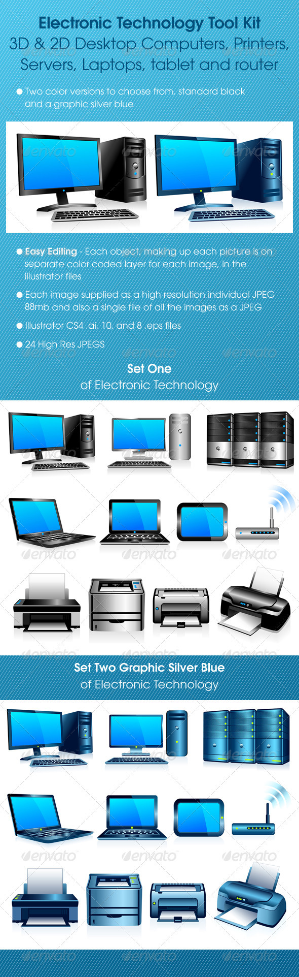 GraphicRiver Electronic Technology Computers Printers Tool Kit 1856220