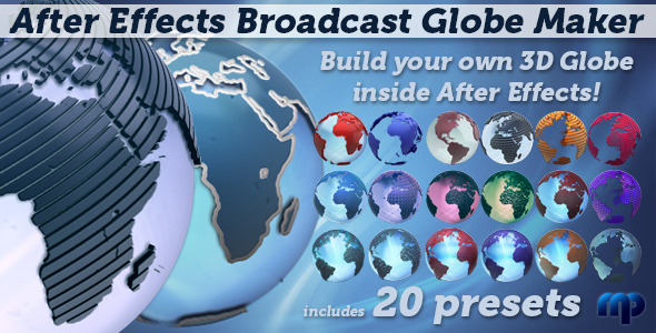 After Effects Project - VideoHive Broadcast Globe Maker 1856391