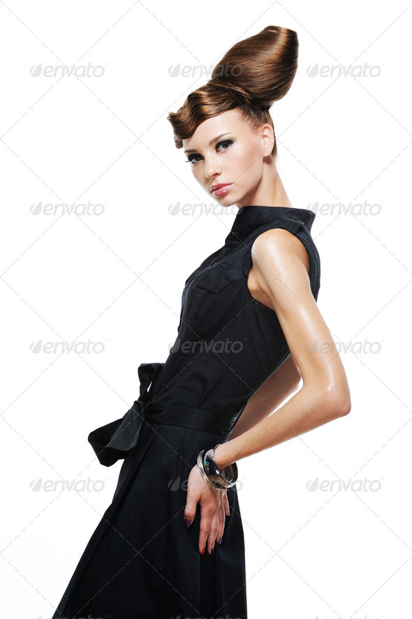 Elegancy stylish glamour girl - Stock Photo - Images