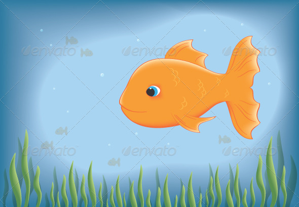 Goldfish Illustration - Animals Characters
