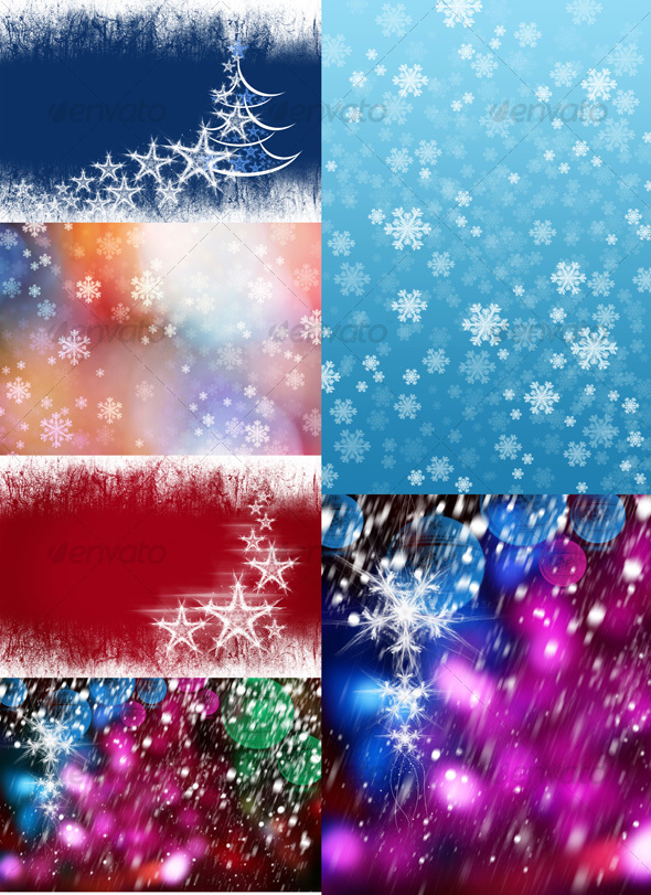 GraphicRiver Christmas Backgrounds 72410