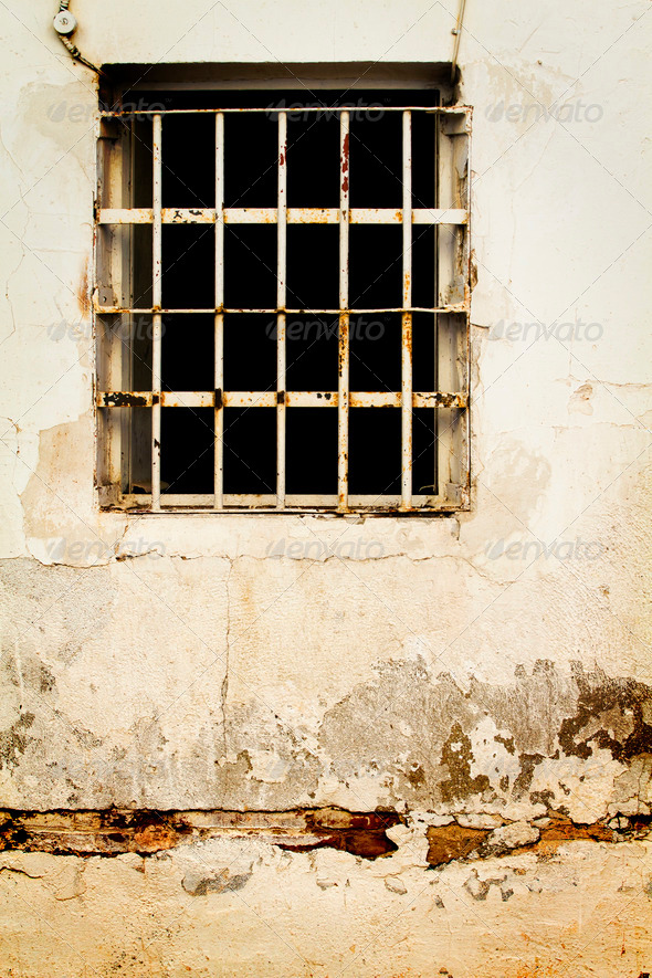 jail like old window - Stock Photo - Images