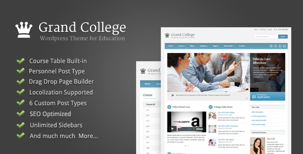 Grand College - Wordpress Theme For Education - Business Corporate