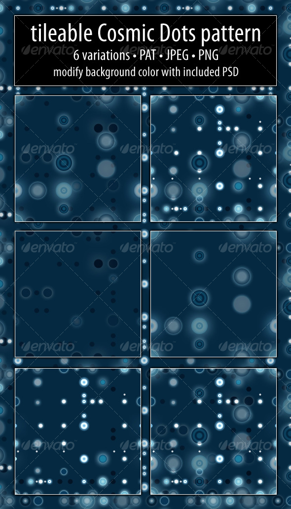 Cosmic Dots Pattern - Photoshop Add-ons