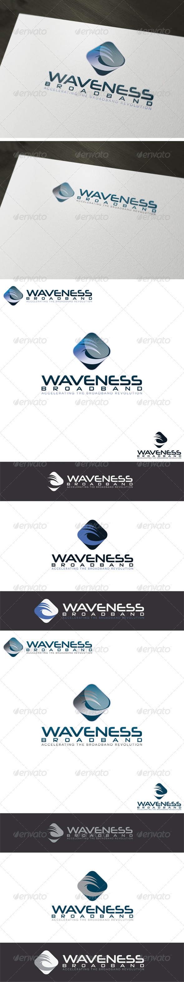 Broadband Logo Template - Vector Abstract