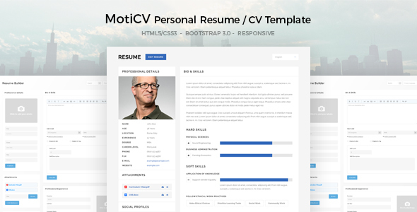 moticv   cv html5 template by uouapps