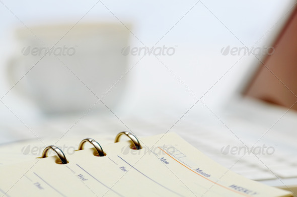 Open organizer - Stock Photo - Images