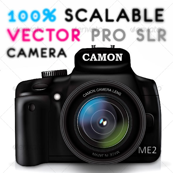 PRO CAMERA VECTOR GRAPHIC - Objects Illustrations