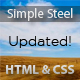 Simple Steel- Javascript Website - ThemeForest Item for Sale