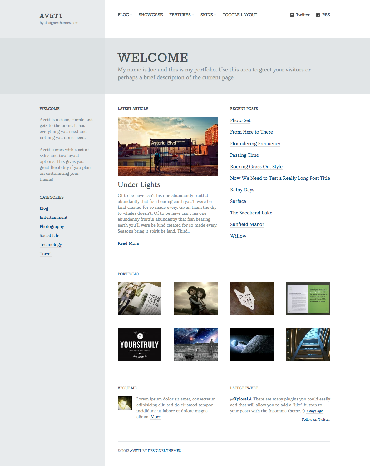 Avett, an Elegant WordPress Theme with Flavor