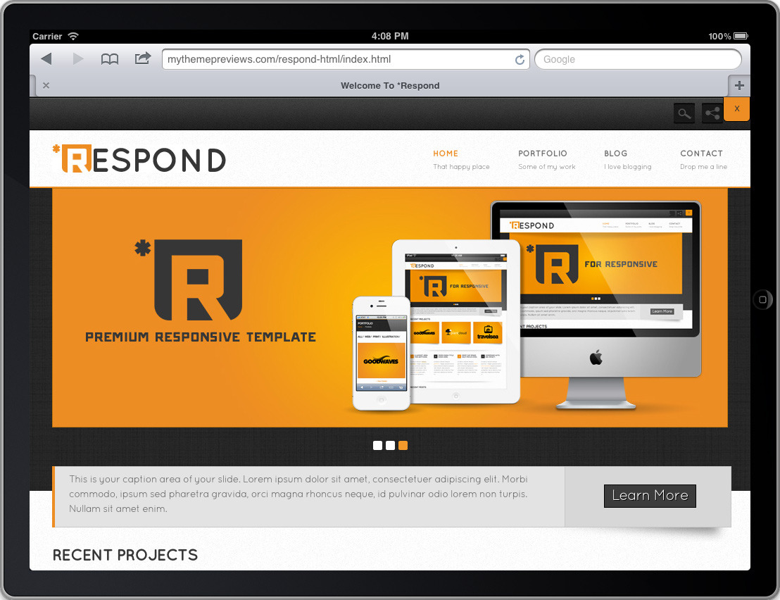 *Respond Premium Wordpress Theme
