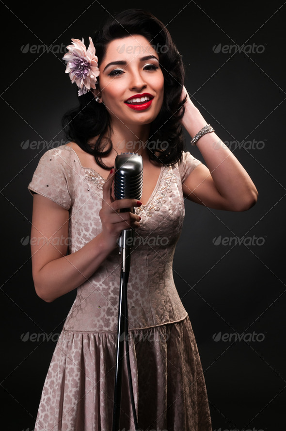 Chanteuse - Stock Photo - Images