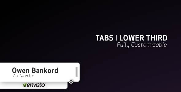 After Effects Project - VideoHive TABS l LOWER THIRD 1852373