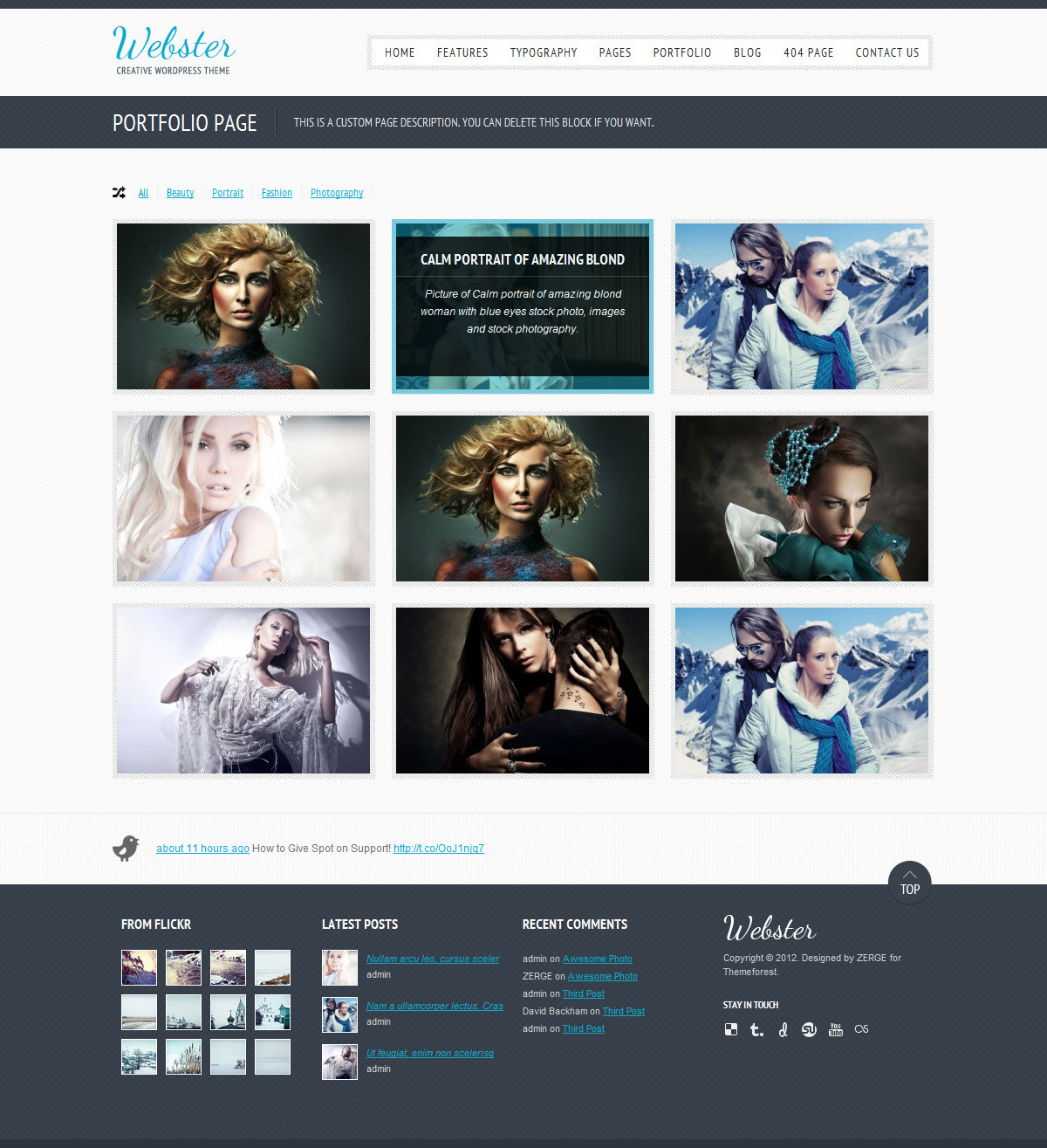 Webster - Creative WordPress Theme - Portfolio Style1