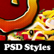 Delicious Photoshop Styles - GraphicRiver Item for Sale
