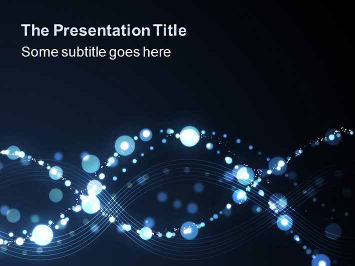 Bubbles Waves Professional PowerPoint Templates
