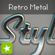 Retro chrome metal text style effect - ActiveDen Item for Sale