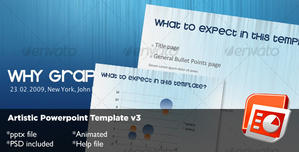 Artistic Powerpoint Template v3 - Abstract Powerpoint Templates