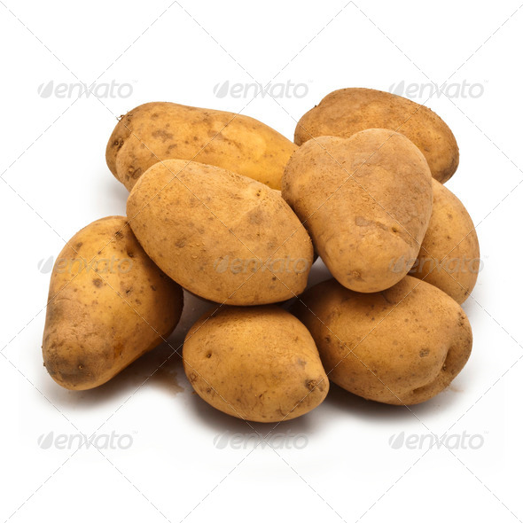 Freshly harvested potatoes - Stock Photo - Images
