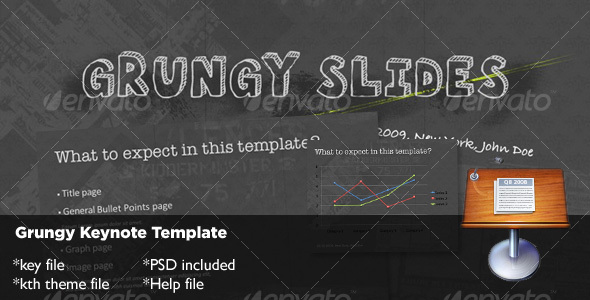 Grungy Keynote Template - Creative Keynote Templates