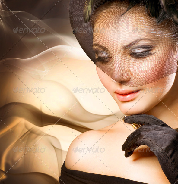 Luxury Woman Portrait - Stock Photo - Images