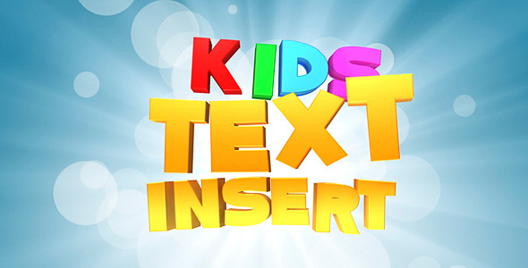 Kids Text VideoHive Cinema 4D Templates  Openers  Kids 484341 torrent