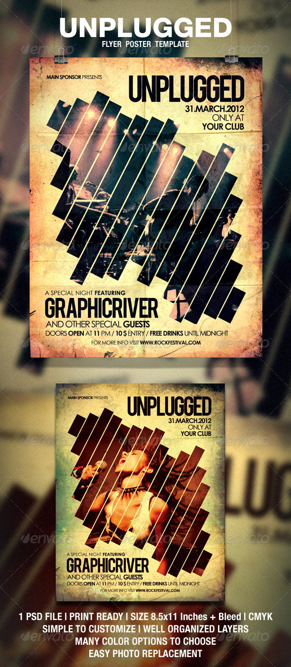 GraphicRiver Unplugged Flyer Poster 1875217