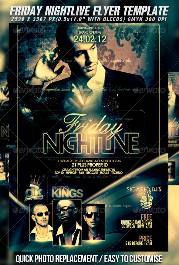 Nightlive Flyer Template - Clubs & Parties Events