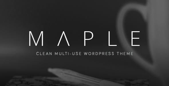 maple wordpress theme premium 2017