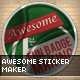 Awesome Sticker Maker - GraphicRiver Item for Sale