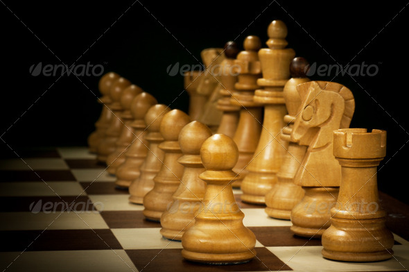 wooden chess - Stock Photo - Images