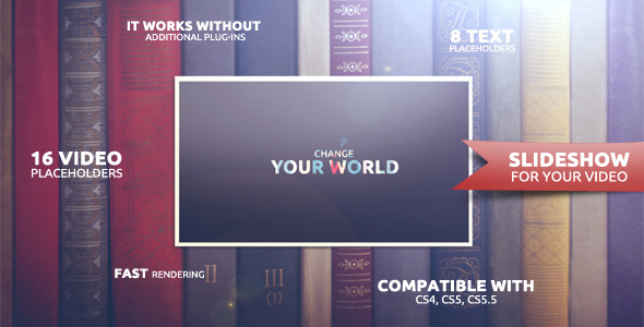 After Effects Project - VideoHive Change Your World 1876647