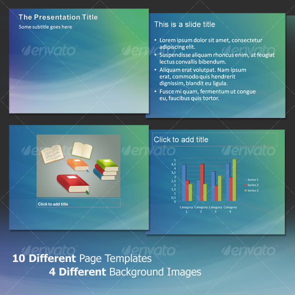 Aura Abstract - Professional PowerPoint Template - Abstract Powerpoint Templates