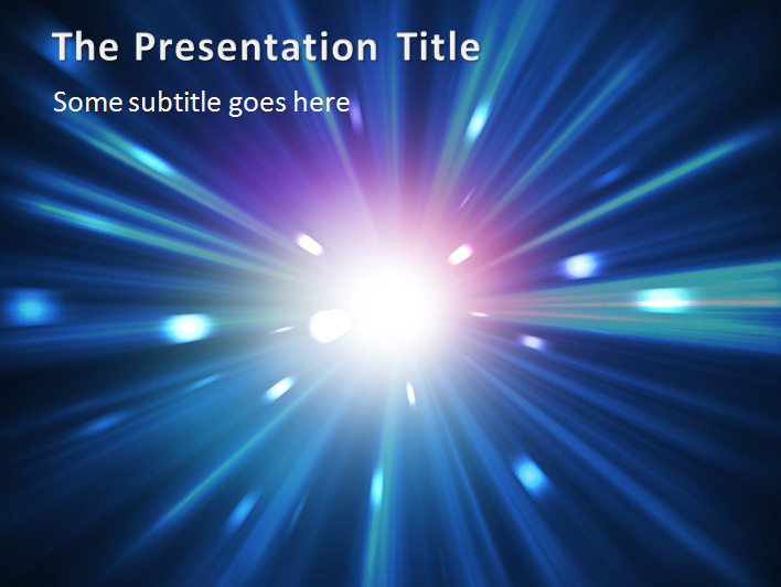 Nebula Explosion Abstract Professional PowerPoint Templates Designs