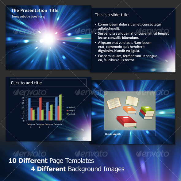 Nebula Explosion- Professional PowerPoint Template - Abstract Powerpoint Templates