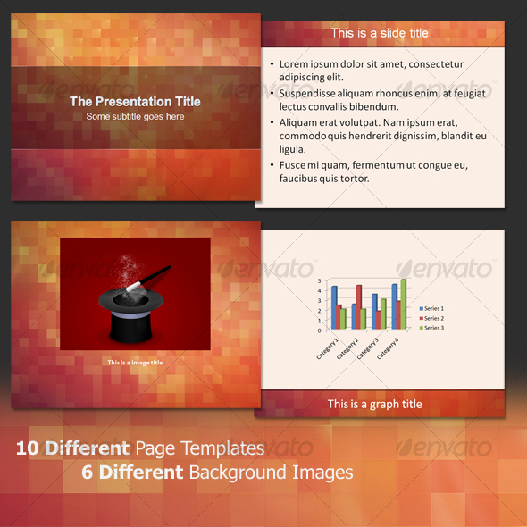 About The Pixels- Professional PowerPoint Template - Abstract Powerpoint Templates