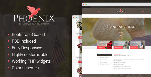 Phoenix Funeral Service Funeral Home Cemetery Html Template By Mwtemplates
