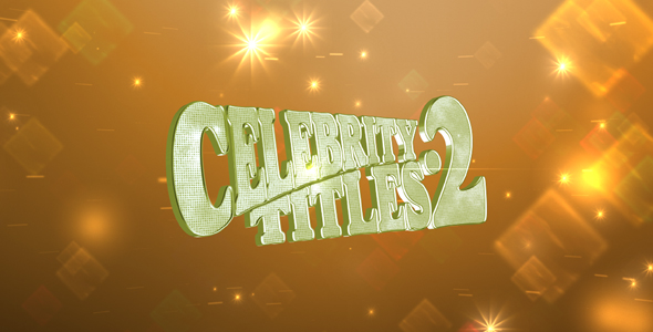 After Effects Project - VideoHive Celebrity Titles 2 221624