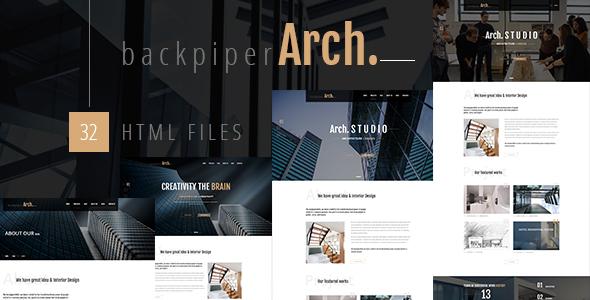 Backpiperarch Architecture Interior Portfolio Html Template By Themazine