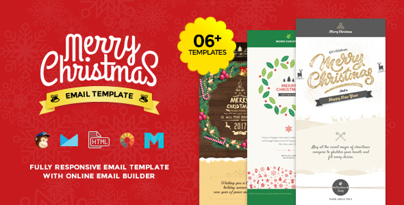 Christmas and New Year Responsive Email Template with Builder by – New Year Email Template