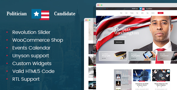 Politician Political Party Candidate Modern Wordpress