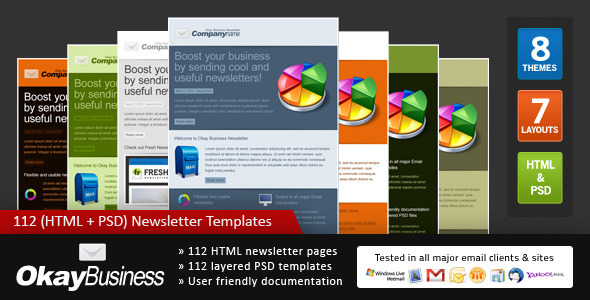 Okay Business - Multi Usage Newsletter - Newsletters Email Templates