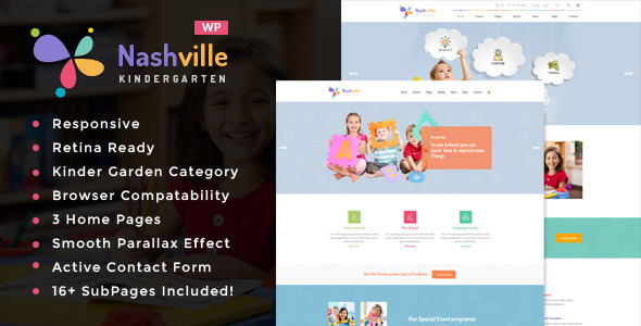 Nashville – Kindergarten & School WordPress Theme